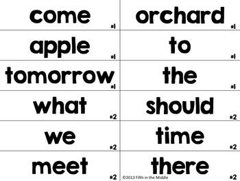 FREE Sentence Types ELA Center Activity for Upper Elementary