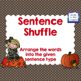 FREE Sentence Types ELA Center Activity for Upper Elementary