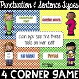 Punctuation & Types of Sentences 4 Corner Game