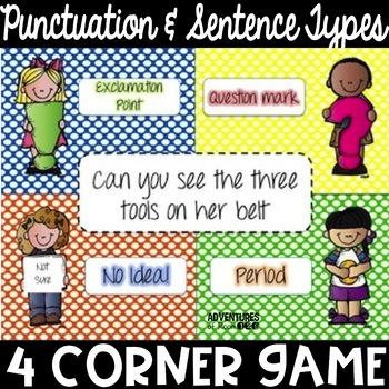 Punctuation & Types of Sentences 4 Corner Game
