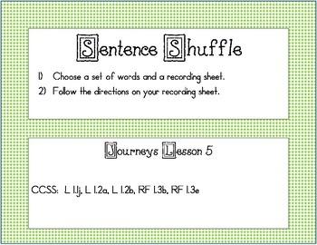 Sentence Shuffle Journeys Lesson 5
