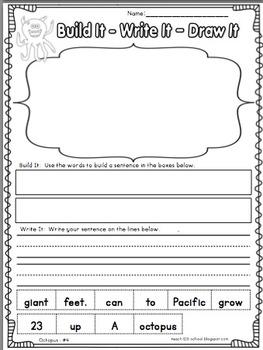 OCTOPUS Fluency Activity