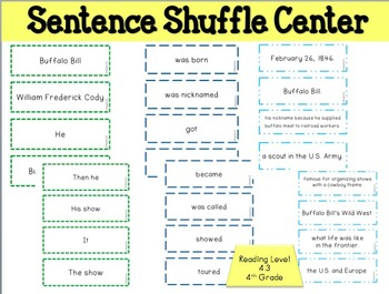 BUFFALO BILL  Fluency Activity