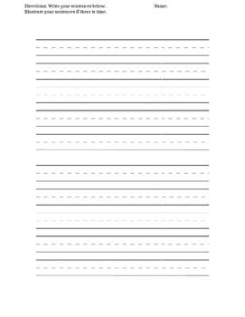 Sentence Shuffle Writing Paper