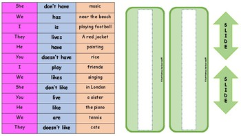 Sentence Slide