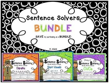 Sentence Solvers~ BUNDLE~ Interactive Sentence Building Activities