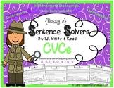 Writing~Bossy E, Silent E~ Interactive CVCe Sentence Build