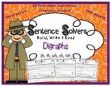 Writing Sentences ~ DIGRAPHS~ Interactive Sentence Building Activity