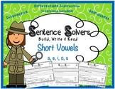 Writing Sentences ~ Short Vowels~ Interactive Sentence Bui