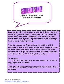 Sentence Song Syntax