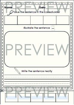 Sentence Sort - Editable PDF to sort 3, 4 or 5 word sentences