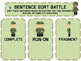 Sentence Sort (Fragments, Run-Ons, Completes) Battle Game
