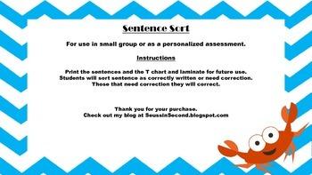 Sentence Sort - Identify a Correct Sentence