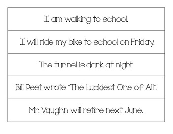 Sentence Sort using Verb Tenses