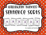 Sentence Sort/Sentence Scrambles-Halloween Themed