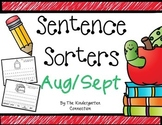 Sentence Sorters - Back to School