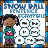 Unscramble the Sentences Sorting Literacy Center Activity