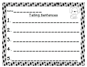 Sentence Sorting {Telling and Asking Sentences}
