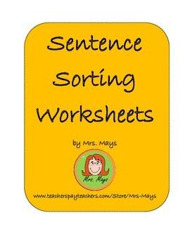 Sentence Sorting Worksheets
