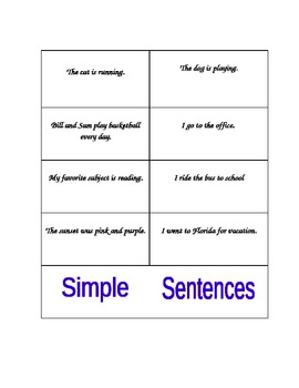 Sentence Sorting and Writing
