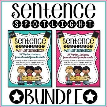 Sentence Spotlight {A Collection of Mentor Sentences} BUNDLE