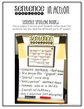 Sentence Spotlight {A Collection of Mentor Sentences} SET 2