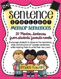 Sentence Spotlight {A Collection of Mentor Sentences} SET 2