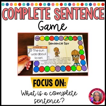 Sentence Spy- Incomplete and Complete Sentences Game