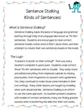 Sentence Stalking: Kinds of Sentences