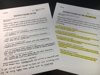 Sentence Stalking: The New DOL {9 Months of Instruction BUNDLE}