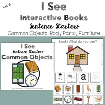 Sentence Starter Interactive Books - I See (Commenting)
