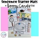 Sentence Starter Mats + Boom Cards™
