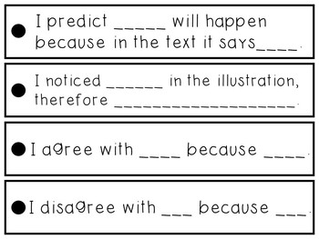 Sentence Stems for Written Comprehension