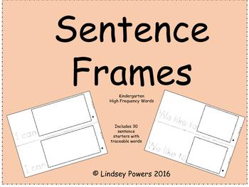Sentence Starters