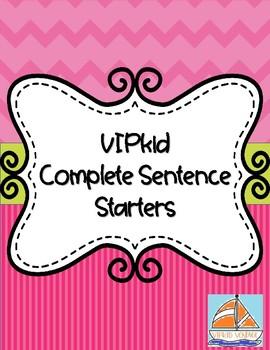 VIPkid Sentence Starters