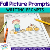 Fall Writing Prompts Sentence Starters