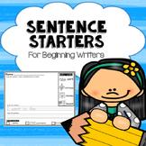 Sentence Starters For Beginners or Struggling Writers