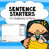 Sentence Starters For Beginners or Struggling Writers