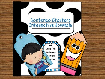 Sentence Starters Interactive Journal Writing Print and Go!