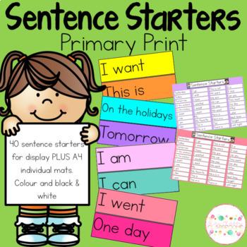 Sentence Starters K-1