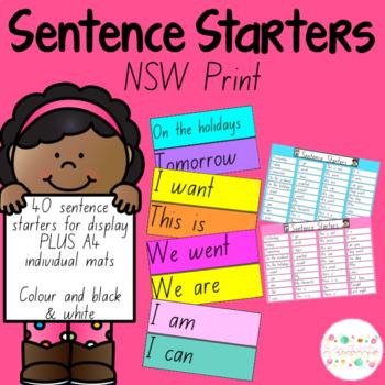 Sentence Starters - NSW Print