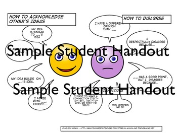 Sentence Starter/Sentence Stems MiniPosters (+ freebie) For Any Class Discussion