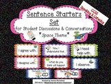 Sentence Starters Set for Student Discussions and Conversations CCSS