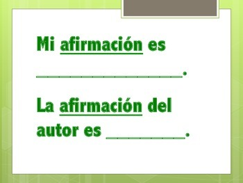 Sentence Starters - Spanish