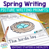Spring Picture Writing Prompts and Sentence Starters