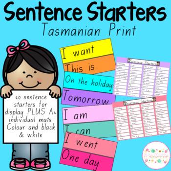 Sentence Starters - Tasmanian Print