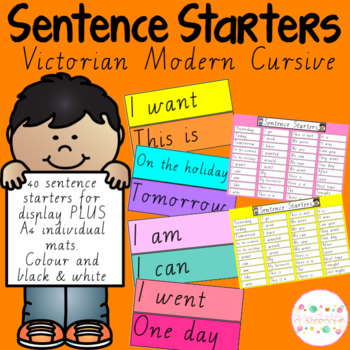 Sentence Starters - Victorian Modern Cursive