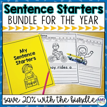 Sentence Starters Writing Prompts Bundle