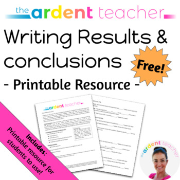 Sentence Starters: Writing Results & conclusions