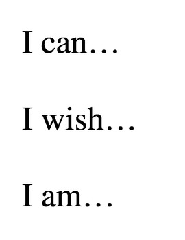 Sentence Starters for Display
